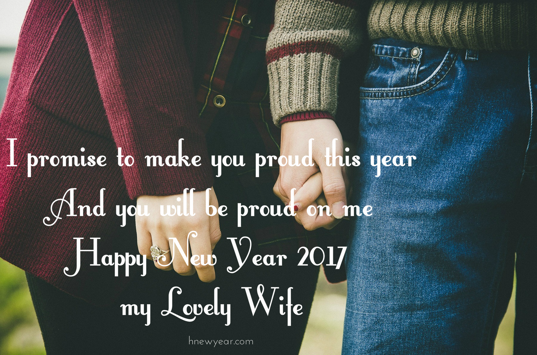 happy new year my lovely wife