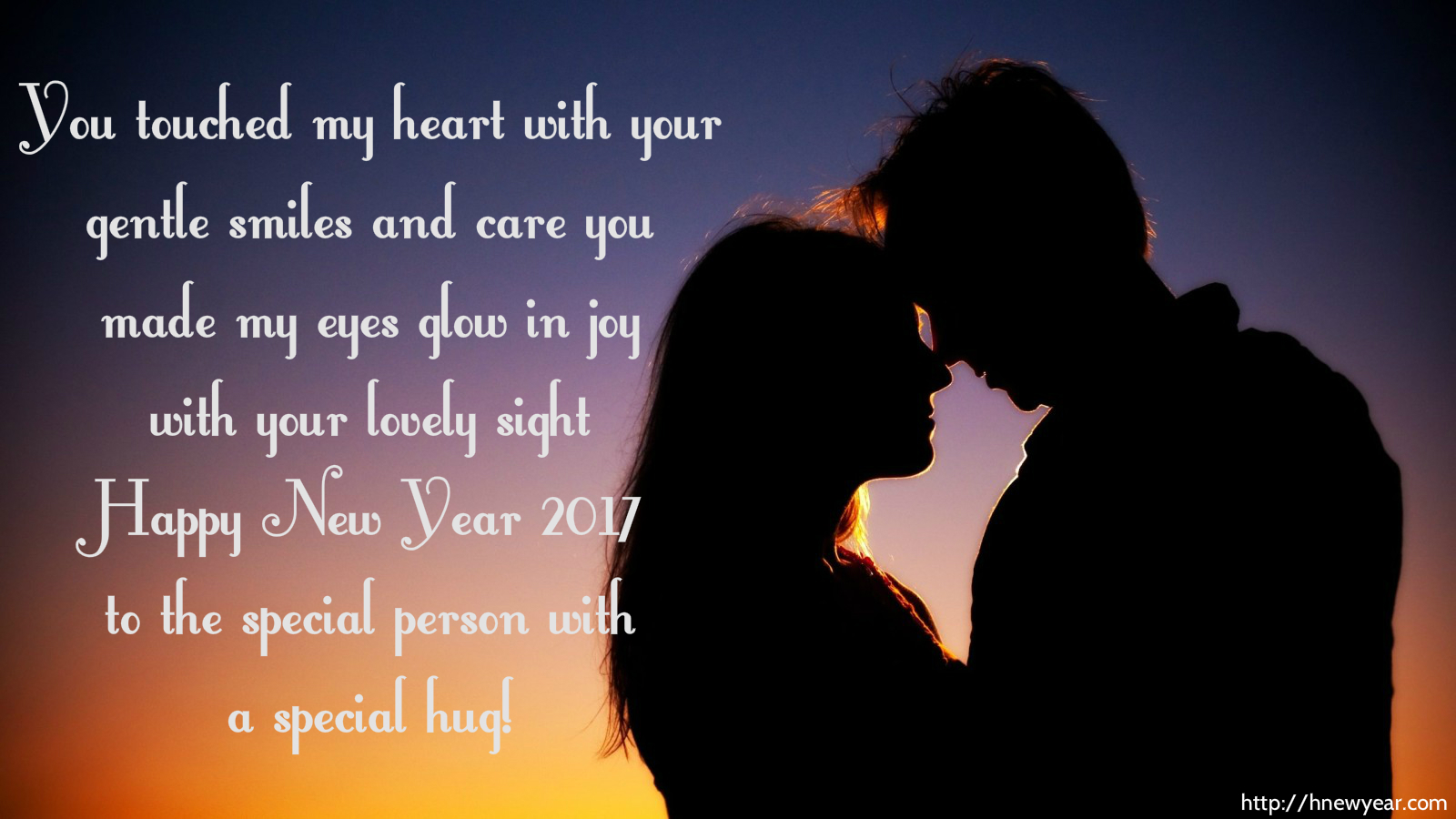 you touched my heart with your gentle smiles and care you made my eyes glow in joy with your lovely sight happy new year 2019 to the special person with a